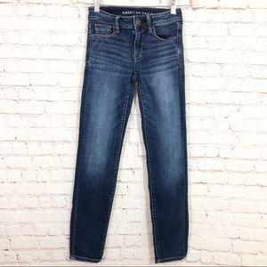 AEO Next Level Stretch Skinny Jeans Size 0